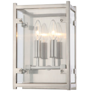 Danbury Two-Light Brushed Nickel Wall Sconce