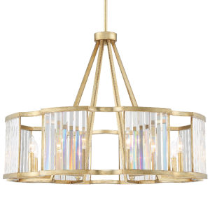 Darcy Distressed Twilight Eight-Light Chandeliers