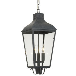Dumont Graphite Three-Light Outdoor Pendant