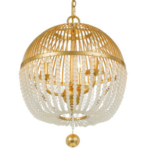 Duval Antique Gold Three-Light Chandelier
