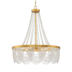 Fiona Antique Gold 33-Inch Four-Light Chandelier