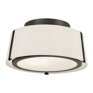 Fulton Matte Black Two-Light Flush Mount