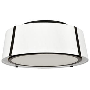 Fulton Matte Black Three-Light Flush Mount