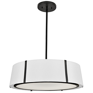 Fulton Matte Black Six-Light Chandelier