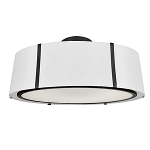 Fulton Matte Black Six-Light Flush Mount