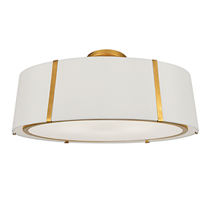 Fulton Antique Gold Six-Light Flush Mount