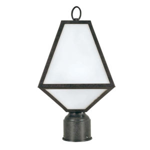 Glacier One-Light Black Charcoal Outdoor Lantern Post