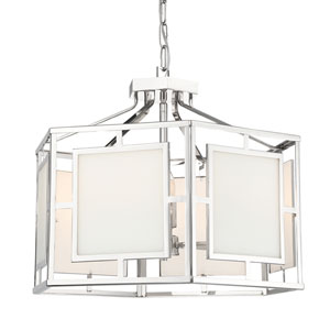 Hillcrest Polished Nickel 22-Inch Six-Light Chandelier