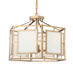 Hillcrest Vibrant Gold 22-Inch Six-Light Chandelier