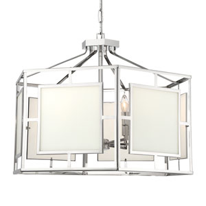 Hillcrest Polished Nickel 28-Inch Six-Light Chandelier