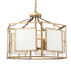 Hillcrest Vibrant Gold 28-Inch Six-Light Chandelier