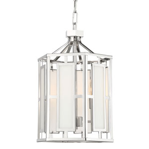 Hillcrest Polished Nickel Three-Light Chandelier