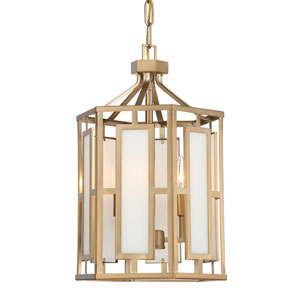 Hillcrest Vibrant Gold Three-Light Chandelier