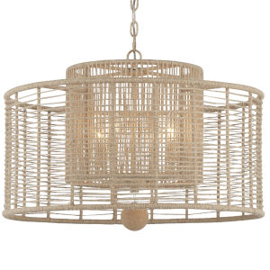 Jayna Jute Thread Burnished Silver 25-Inch Four-Light Chandelier