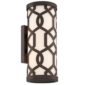 Jennings Dark Bronze 16-Inch Two-Light Outdoor Wall Mount