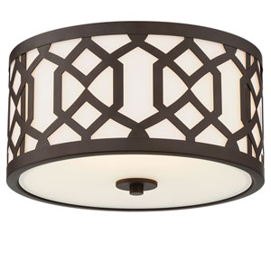 Jennings Dark Bronze Three-Light Outdoor Ceiling Mount