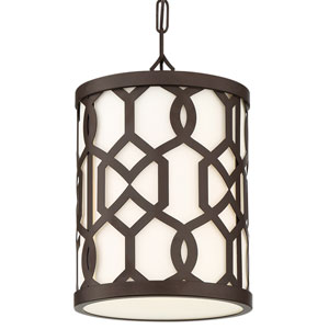 Jennings Dark Bronze One-Light Outdoor Pendant