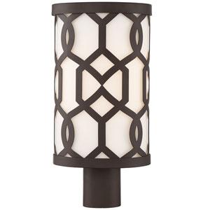 Jennings Dark Bronze Eight-Inch One-Light Outdoor Lantern Post