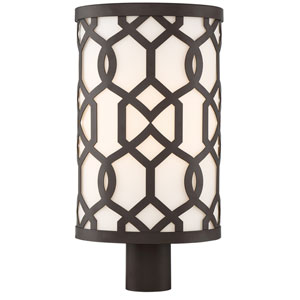 Jennings Dark Bronze 10-Inch One-Light Outdoor Lantern Post