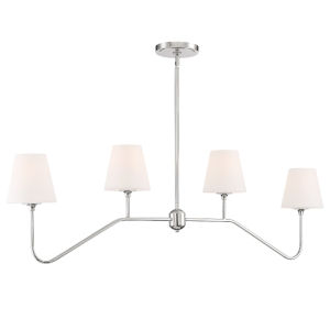 Keenan Polished Nickel 48-Inch Four-Light Chandelier