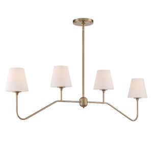 Keenan Vibrant Gold 48-Inch Four-Light Chandelier