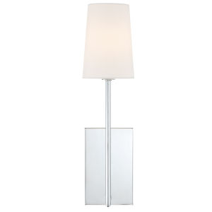 Lena One-Light Polished Chrome Wall Sconce