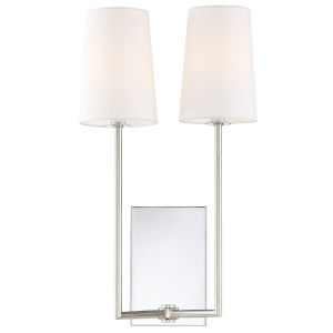 Lena Two-Light Polished Chrome Wall Sconce