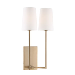 Lena Vibrant Gold 10-Inch Two-Light Wall Sconce