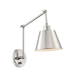 Mitchell Polished Nickel 31-Inch One-Light Wall Sconce