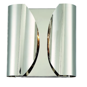 Monique Polished Nickel 10-Inch Two-Light Wall Sconce
