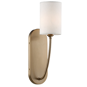 Preston Aged Brass One-Light Wall Sconce