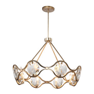 Quincy Eight-Light Distressed Twilight Chandelier