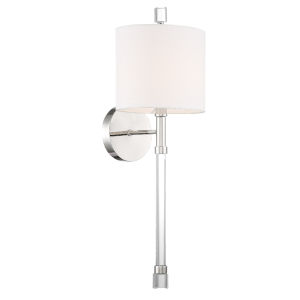 Rachel Polished Nickel Eight-Inch One-Light Wall Sconce