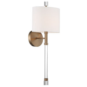 Rachel Vibrant Gold Eight-Inch One-Light Wall Sconce