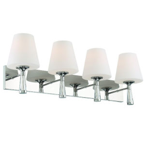 Ramsey Polished Nickel 32-Inch Four-Light Wall Sconce