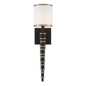 Sloane Vibrant Gold and Black Forged Five-Inch One-Light Wall Sconce