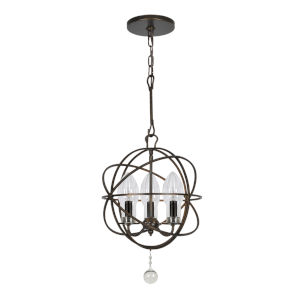 Solaris English Bronze Three-Light Outdoor Chandelier
