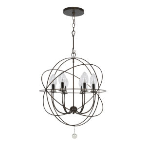 Solaris English Bronze Six-Light Outdoor Chandelier