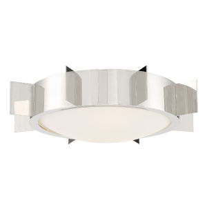 Solas Polished Nickel 18-Inch Three-Light Flush Mount
