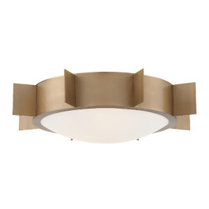 Solas Vibrant Gold 18-Inch Three-Light Flush Mount