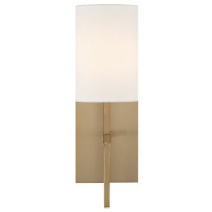 Veronica One-Light Aged Brass Wall Sconce