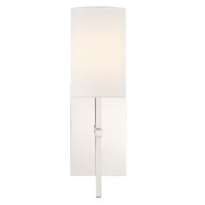 Veronica One-Light Polished Nickel Wall Sconce