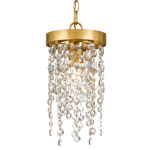 Windham Antique Gold One-Light Mini Pendant