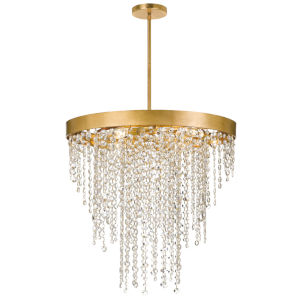 Windham Antique Gold Six-Light Chandelier
