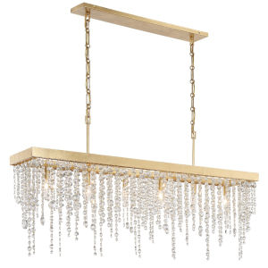 Winham Antique Gold 49-Inch Six-Light Chandelier