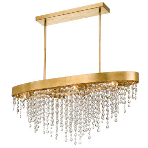 Windham Antique Gold Eight-Light Chandelier