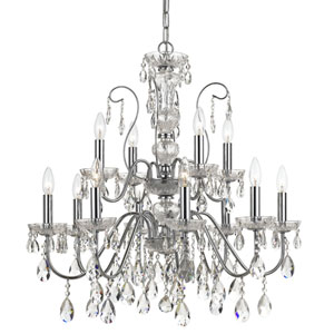 Modern 29-Inch 12-Light Chrome Chandelier