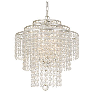 Crystal 18-Inch Three-Light Silver Chandelier