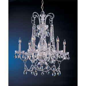 Traditional Crystal Crystal chandelier with Clear Swarovski Spectra Crystal