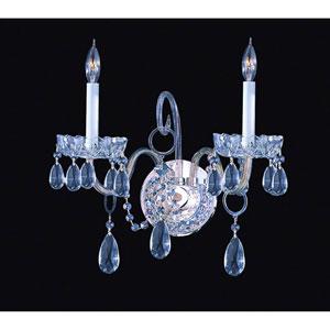 Traditional Crystal Swarovski Spectra Crystal Polished Chrome Two-Light Sconce